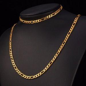 Bundle 18K gold plated necklace/ bracelet Set
